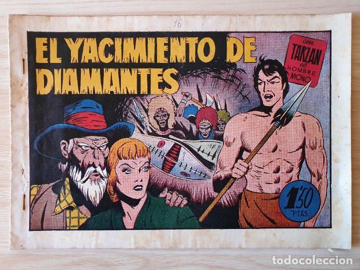 TARZAN - Nº 16, EL YACIMIENTO DE DIAMANTES - HISPANO AMERICANA - ORIGINAL (Tebeos y Comics - Hispano Americana - Tarzán)