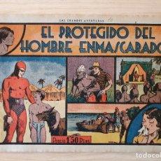 Tebeos: EL HOMBRE ENMASCARADO - EL PROTEGIDO DEL HOMBRE ENM - Nº 10 - HISPANO AMERICANA - ORIGINAL AÑOS 40. Lote 220356458