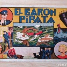 Tebeos: EL HOMBRE ENMASCARADO - EL BARON PIRATA - Nº 16 - HISPANO AMERICANA - ORIGINAL AÑOS 40. Lote 220357516