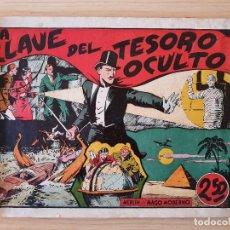 Tebeos: MERLIN EL MAGO MODERNO - LA CLAVE DEL TESORO OCULTO (HISPANO AMERICANA). Lote 220368478