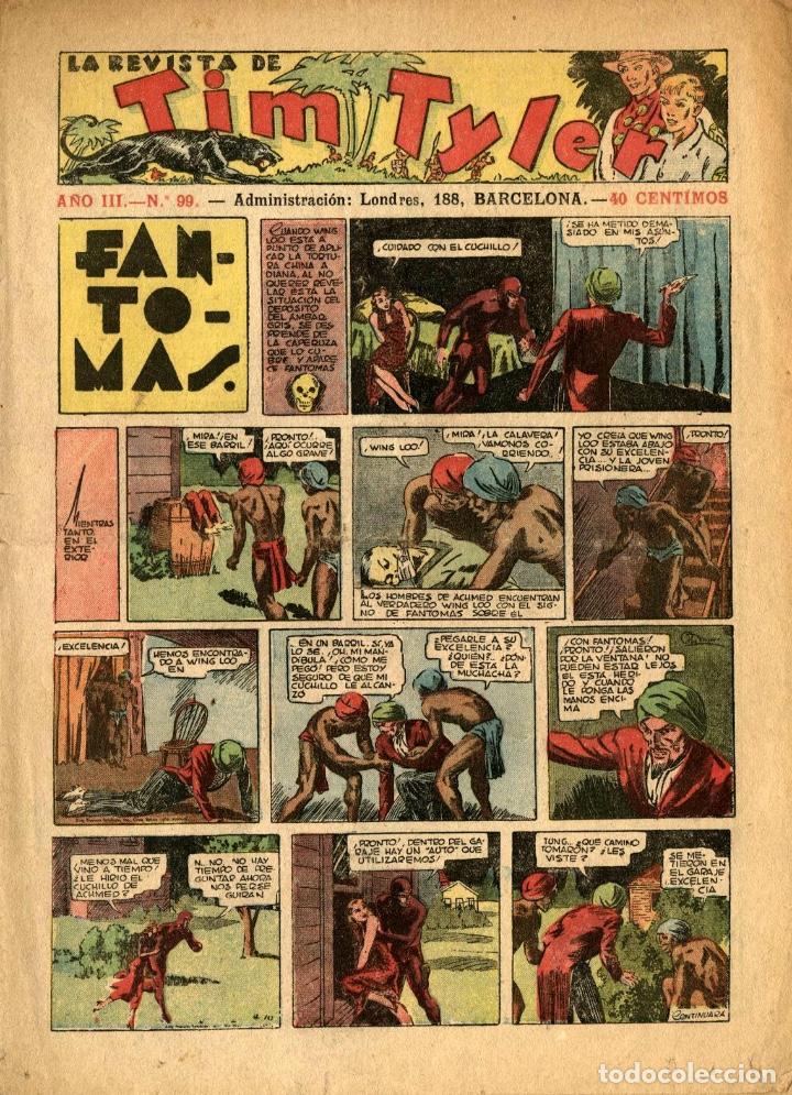 LA REVISTA DE TIM TYLER-99 (HISPANO AMERICANA, 2-7-1938) CON THE PHANTOM EN PORTADA (Tebeos y Comics - Hispano Americana - Tim Tyler)