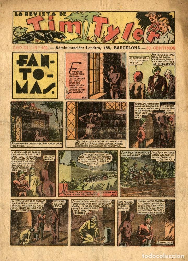 LA REVISTA DE TIM TYLER-102 (HISPANO AMERICANA, 13-8-1938) CON THE PHANTOM EN PORTADA (Tebeos y Comics - Hispano Americana - Tim Tyler)