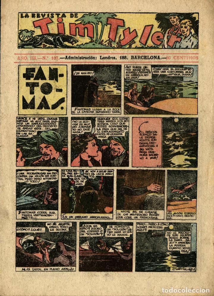 LA REVISTA DE TIM TYLER-107 (HISPANO AMERICANA, 1-10-1938) CON THE PHANTOM EN PORTADA (Tebeos y Comics - Hispano Americana - Tim Tyler)