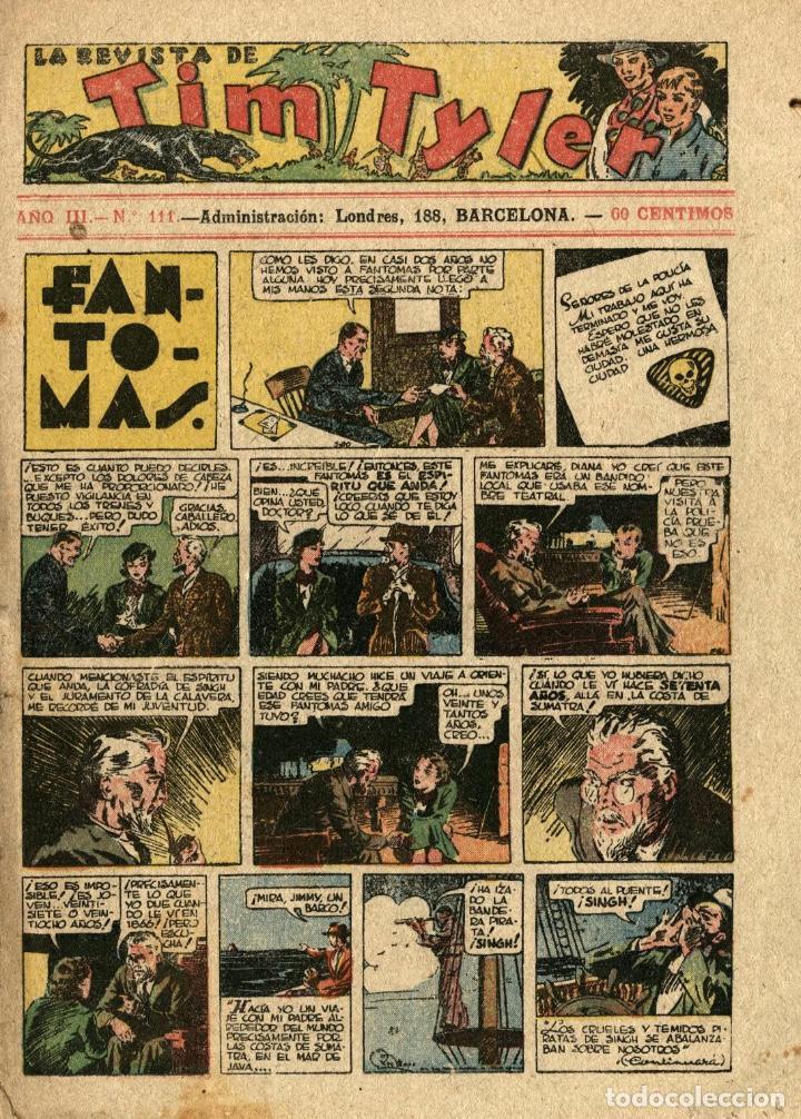 LA REVISTA DE TIM TYLER-111 (HISPANO AMERICANA, 3-12-1938) CON THE PHANTOM EN PORTADA (Tebeos y Comics - Hispano Americana - Tim Tyler)