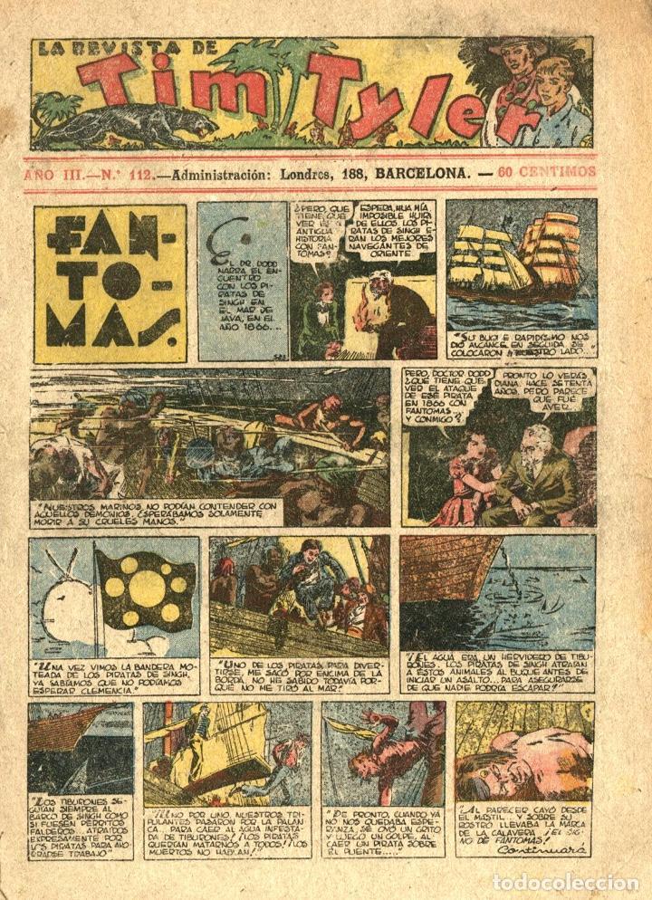LA REVISTA DE TIM TYLER-112 (HISPANO AMERICANA, 10-12-1938) CON THE PHANTOM EN PORTADA (Tebeos y Comics - Hispano Americana - Tim Tyler)