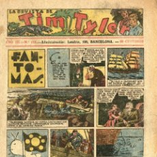 Tebeos: LA REVISTA DE TIM TYLER-112 (HISPANO AMERICANA, 10-12-1938) CON THE PHANTOM EN PORTADA. Lote 221508686