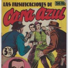 Tebeos: LAS FALSIFICACIONES DE CARA AZUL CON EL AGENTE SECRETO X-9 - EXTRA 8 - 1944 ** HISPANO AMERICANA **. Lote 222004556