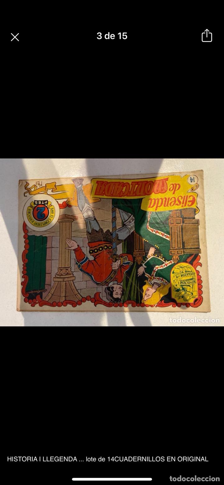 Tebeos: HISTORIA I LLEGENDA ... lote de 14CUADERNILLOS EN ORIGINAL - Foto 3 - 224130220