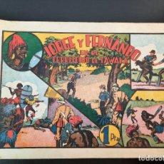 Tebeos: JORGE Y FERNANDO (1940, HISPANO AMERICANA) 34 · 1940 · EL TERRITORIO DE TAWAKA. Lote 224816071