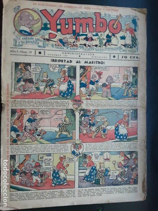 YUMBO NÚMERO 19 DE 10 CÉNTIMOS, AÑOS 20 (Tebeos y Comics - Hispano Americana - Yumbo)