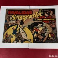 Tebeos: EL JINETE ENMASCARADO (1943, HISPANO AMERICANA) 29 ·1943 ·RIVALIDAD SANGRIENTA -21X31. Lote 226278825