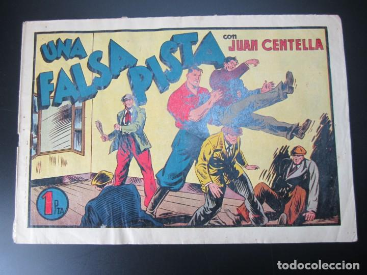 JUAN CENTELLA (1940, HISPANO AMERICANA) 63 · 1940 · UNA FALSA PISTA (Tebeos y Comics - Hispano Americana - Juan Centella)