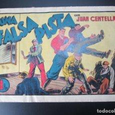 Tebeos: JUAN CENTELLA (1940, HISPANO AMERICANA) 63 · 1940 · UNA FALSA PISTA. Lote 227188720