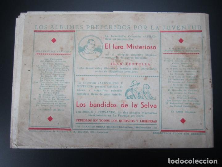 Tebeos: JUAN CENTELLA (1940, HISPANO AMERICANA) 24 · 1940 · UNA TERRIBLE AVENTURA - Foto 2 - 227195150
