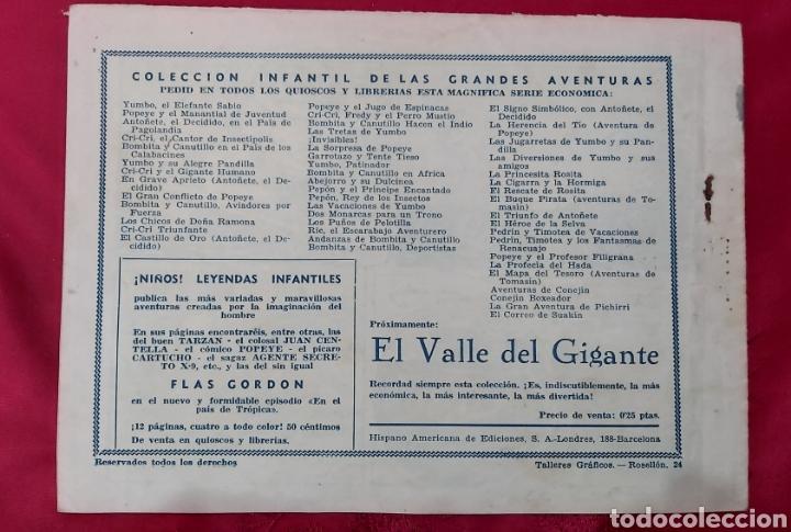 Tebeos: TEBEO VIDA Y AVENTURAS DE GALOPIN. IGA HISPANO AMERICANA 1943 - Foto 2 - 228588715
