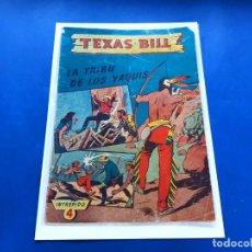 Tebeos: TEXAS BILL Nº 4 -ORIGINAL -HISPANO AMERICANA. Lote 229560800