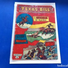 Tebeos: TEXAS BILL Nº 21 -ORIGINAL -HISPANO AMERICANA. Lote 229562755