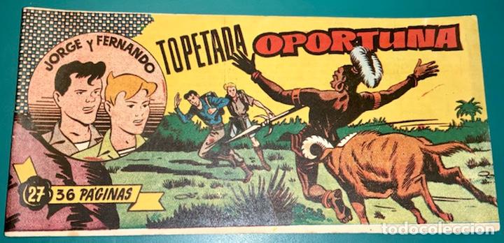 COMIC DE JORGE Y FERNANDO NÚMERO 27 HISPANO AMERICANA DE EDICIONES (Tebeos y Comics - Hispano Americana - Jorge y Fernando)