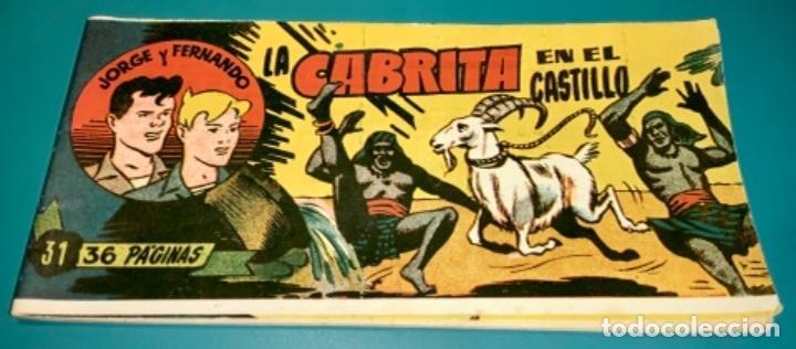 COMIC DE JORGE Y FERNANDO NÚMERO 31 HISPANO AMERICANA DE EDICIONES (Tebeos y Comics - Hispano Americana - Jorge y Fernando)