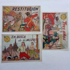 Tebeos: INTRIGAS Y ESTOCADAS NºS - 4, 6 Y 18 Y ÚLTIMO - HISPANO AMERICANA 1957 - MUY NUEVOS SIN ABRIR 18, 6. Lote 231611650