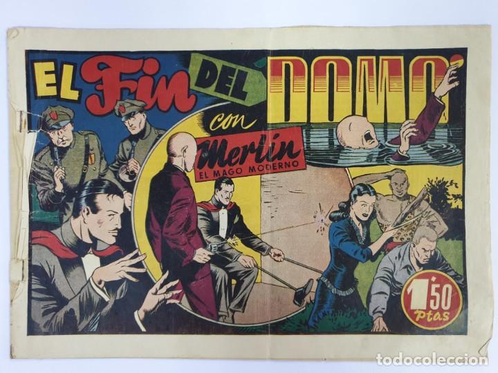 """EL FIN DEL DOMO CON MERLIN EL MAGO MODERNO. 1,50 PTAS. ORIGINAL - TARANCON """"EL NOVENTA Y CINCO"""" (Tebeos y Comics - Hispano Americana - Merlín)"""
