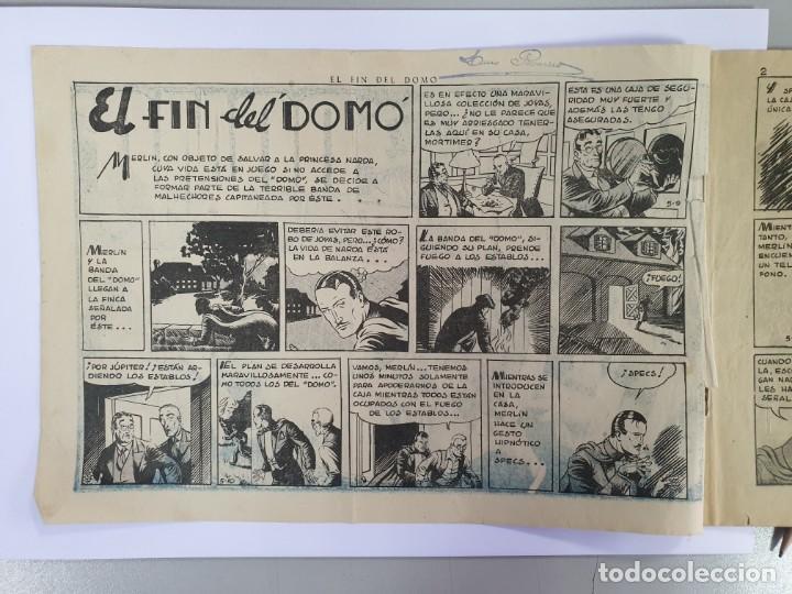 """Tebeos: EL FIN DEL DOMO CON MERLIN EL MAGO MODERNO. 1,50 PTAS. ORIGINAL - TARANCON """"EL NOVENTA Y CINCO"""" - Foto 2 - 232958540"""