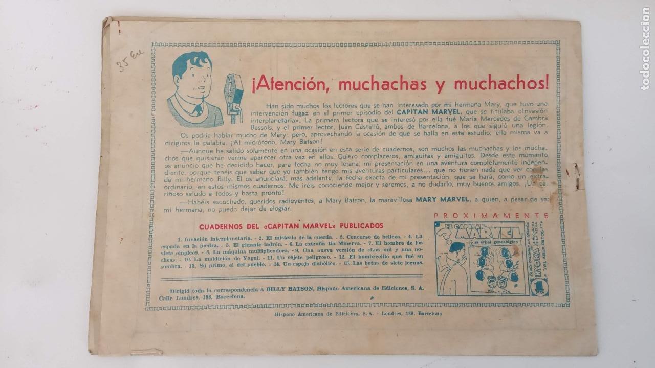 Tebeos: EL CAPITÁN MARVEL ORIGINAL Nº 15 - EDI. HISPANO AMERICANA , 1947 - Foto 2 - 233935585