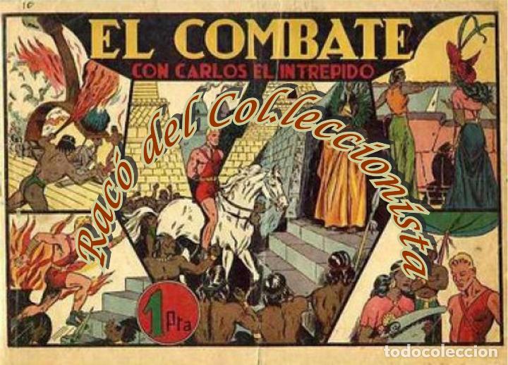 CARLOS EL INTREPIDO N. 10 (EL COMBATE) , ALBUMES PREFERIDOS POR LA JUVENTUD, HISPANO AMERICANA,1942 (Tebeos y Comics - Hispano Americana - Carlos el Intrépido)
