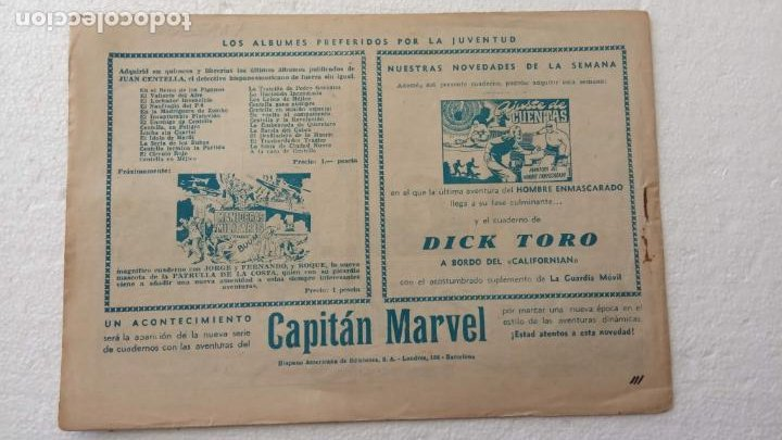 Tebeos: JUAN CENTELLA ORIGINAL Nº 111 - EDI. HISPANO AMERICANA 1940 - ¡ POR MÉJICO ! - Foto 2 - 234487175