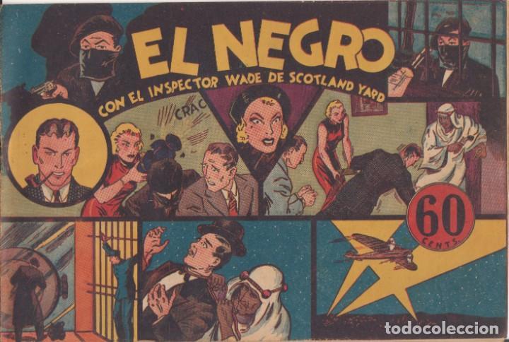 """COMIC """" EL INSPECTOR WADE DE SCOTLAND YARD - EL NEGRO """" HISPANO AMERICANA DE EDICIONES (Tebeos y Comics - Hispano Americana - Otros)"""