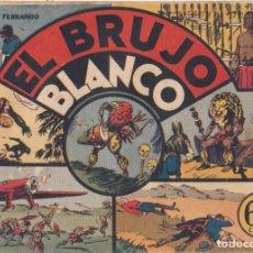 """BDs: COMIC JORGE Y FERNANDO """"EL BRUJO BLANCO"""" HISPANO AMERICANA DE EDICIONES (60 CTMS). Lote 235572440"""