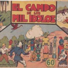 """BDs: COMIC JORGE Y FERNANDO """"EL CAMPO DE LOS MIL ÍDOLOS"""" HISPANO AMERICANA DE EDICIONES (60 CTMS). Lote 235573425"""