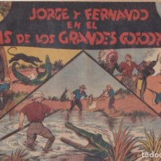 """BDs: COMIC JORGE Y FERNANDO """"EL PAÍS DE LOS GRANDES COCODRILOS"""" HISPANO AMERICANA DE EDICIONES (60 CTMS). Lote 235591190"""