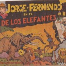 """BDs: COMIC JORGE Y FERNANDO """"EN EL PAÍS DE LOS ELEFANTES"""" HISPANO AMERICANA DE EDICIONES (60 CTMS). Lote 235592410"""