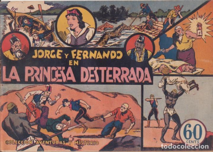 """COMIC JORGE Y FERNANDO EN """" LA PRINCESA DESTERRADA """" HISPANO AMERICANA DE EDICIONES (60 CTMS) (Tebeos y Comics - Hispano Americana - Jorge y Fernando)"""