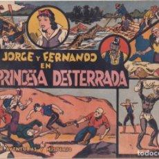 """BDs: COMIC JORGE Y FERNANDO EN """" LA PRINCESA DESTERRADA """" HISPANO AMERICANA DE EDICIONES (60 CTMS). Lote 235592760"""
