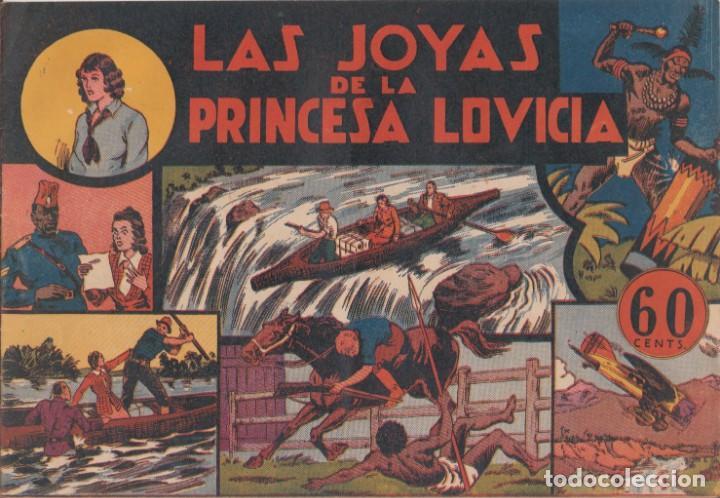 """COMIC JORGE Y FERNANDO EN""""LAS JOYAS DE LA PRINCESA LOVICIA"""" HISPANO AMERICANA DE EDICIONES (60 CTMS) (Tebeos y Comics - Hispano Americana - Jorge y Fernando)"""