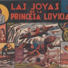 """BDs: COMIC JORGE Y FERNANDO EN""""LAS JOYAS DE LA PRINCESA LOVICIA"""" HISPANO AMERICANA DE EDICIONES (60 CTMS). Lote 235593100"""