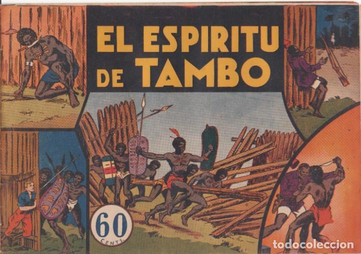 """COMIC JORGE Y FERNANDO EN """" EL ESPÍRITU DE TAMBO """" HISPANO AMERICANA DE EDICIONES (60 CTMS) (Tebeos y Comics - Hispano Americana - Jorge y Fernando)"""