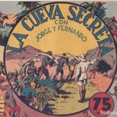 """BDs: COMIC JORGE Y FERNANDO EN """" LA CUEVA SECRETA """" HISPANO AMERICANA DE EDICIONES (75 CTMS). Lote 235596305"""