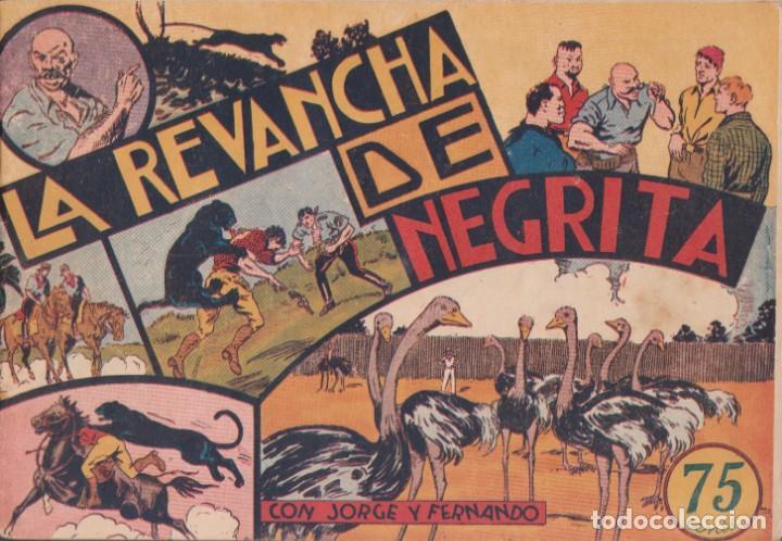 """COMIC JORGE Y FERNANDO EN """" LA REVANCHA DE NEGRITA """" HISPANO AMERICANA DE EDICIONES (75 CTMS) (Tebeos y Comics - Hispano Americana - Jorge y Fernando)"""