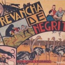 """BDs: COMIC JORGE Y FERNANDO EN """" LA REVANCHA DE NEGRITA """" HISPANO AMERICANA DE EDICIONES (75 CTMS). Lote 235596520"""