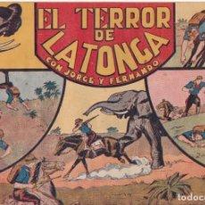 """BDs: COMIC JORGE Y FERNANDO EN """" EL TERROR DE LATONGA """" HISPANO AMERICANA DE EDICIONES (75 CTMS). Lote 235597115"""