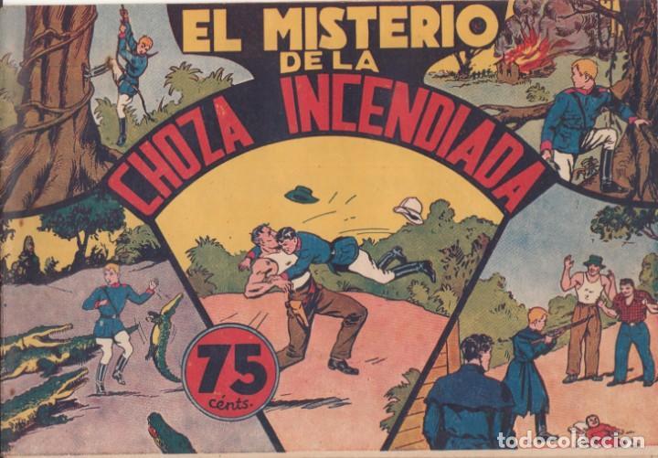 """COMIC JORGE Y FERNANDO """"EL MISTERIO DE LA CHOZA INCENDIADA"""" HISPANO AMERICANA DE EDICIONES (75 CTMS) (Tebeos y Comics - Hispano Americana - Jorge y Fernando)"""