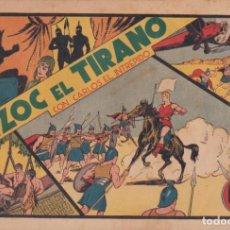 """Tebeos: COMIC CARLOS EL INTRÉPIDO EN """" TIZOC EL TIRANO """" HISPANO AMERICANA DE EDICIONES (60 CTMS). Lote 235806365"""