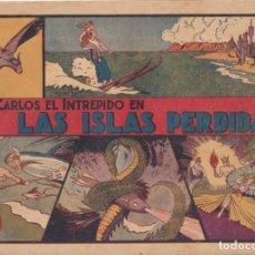 """Tebeos: COMIC CARLOS EL INTRÉPIDO EN """" LAS ISLAS PERDIDAS """" HISPANO AMERICANA DE EDICIONES (60 CTMS). Lote 235813990"""