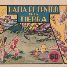"""Tebeos: COMIC CARLOS EL INTRÉPIDO EN """"HACIA EL CENTRO DE LA TIERRA"""" HISPANO AMERICANA DE EDICIONES (60 CTMS). Lote 235815085"""