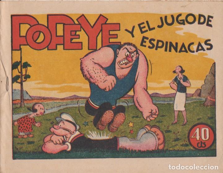 """COMIC """" POPEYE Y EL JUGO DE ESPINACAS """" HISPANO AMERICANA DE EDICIONES (40 CTMS) AÑOS 40 (Tebeos y Comics - Hispano Americana - Otros)"""