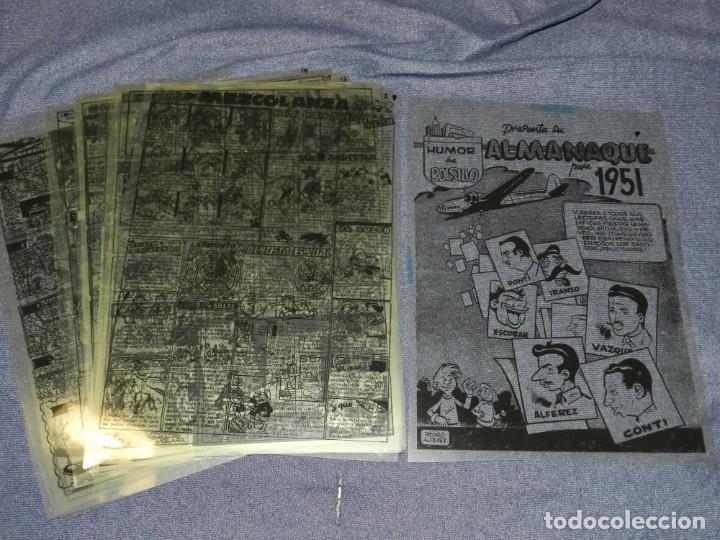 (M-11) FOTOLITO COMPLETO - ALMANAQUE PARA 1951 HUMOR DE BOLSILLO, HISPANO AMERICANA, COMPLETO (Tebeos y Comics - Hispano Americana - Otros)