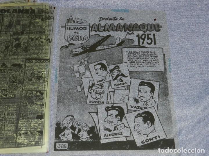 Tebeos: (M-11) FOTOLITO COMPLETO - ALMANAQUE PARA 1951 HUMOR DE BOLSILLO, HISPANO AMERICANA, COMPLETO - Foto 2 - 236196785